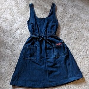 Vintage Dresses - Vintage 80's denim jumper dress